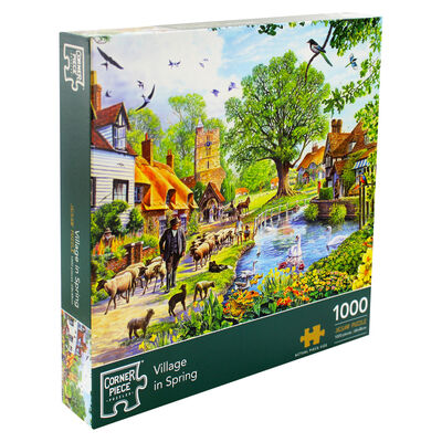 Village in Spring 1000 Piece Jigsaw Puzzle image number 1