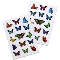 Butterfly Stickers: 2 Sheets