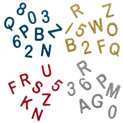 144 Glitter Alphabet Stickers - Bundle of 4 image number 2