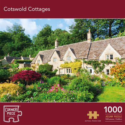 Cotswold Cottages 1000 Piece Jigsaw Puzzle image number 1