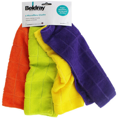 Beldray Microfibre Cloths - Pack of 4 image number 1