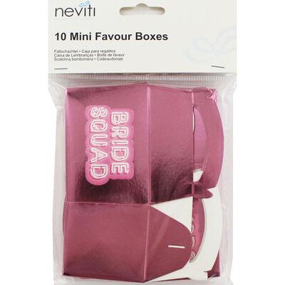 Pink Bride Squad Mini Favour Boxes - 10 Pack image number 1