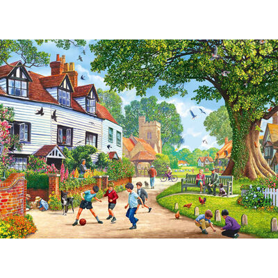 Village Green 500 Piece Jigsaw Puzzle image number 2