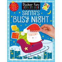 Santa's Busy Night: Sticker Fun Activity Book