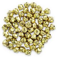 Gold Metal Jingle Bells: Pack of 60