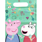 Peppa Pig Plastic Party Bags - 6 Pack image number 2