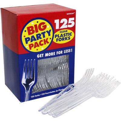 Clear Plastic Forks - 125 Pack image number 3