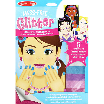 Mess-Free Glitter Art Kit - Glamour Faces image number 1