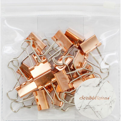 Rose Gold Bulldog Clips - Pack of 20 image number 1