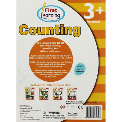 First Learning Counting Workbook: Pre-School image number 2