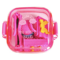 Mini Novelty Erasers Pack - Pink