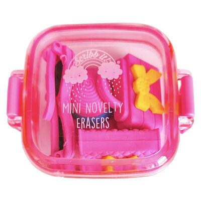 Mini Novelty Erasers Pack - Pink image number 1