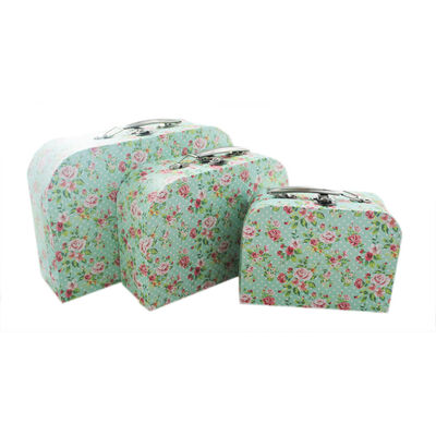 Rose Print Storage Suitcases - Set Of 3 image number 2