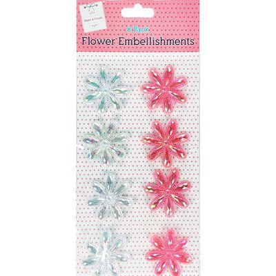 Flower Gem Embellishments Pack of 8 image number 1