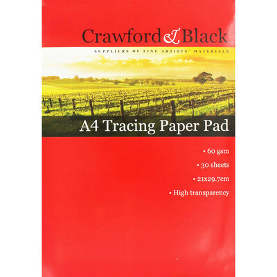 Crawford and Black A4 Tracing Paper - 30 Sheets image number 1