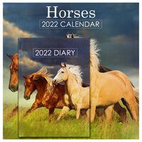 Horses 2022 Square Calendar and Diary Set