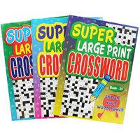 Super Large Print Crossword - Assorted