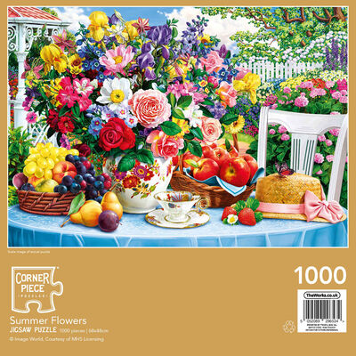 Summer Flowers 1000 Piece Jigsaw Puzzle image number 3