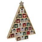 Wooden Christmas Tree Advent Calendar image number 4