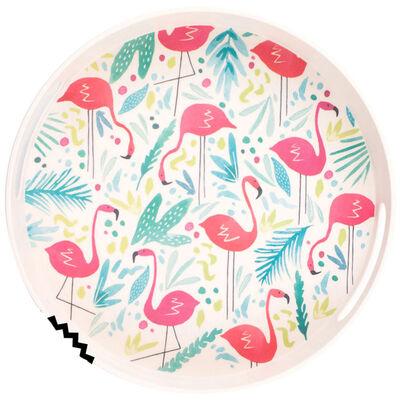 Flamingo Bamboo Eco Round Tray image number 1