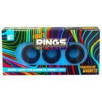 Magnetic Fidget Rings: Pack of 3 Black