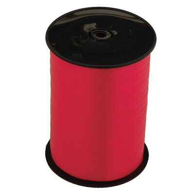 Fire Red Balloon Curling Ribbon - 500m x 5mm image number 1
