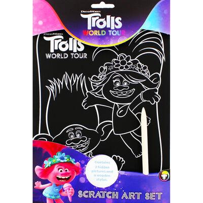 Trolls Scratch Art Set image number 1