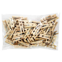 Mini Natural Wooden Pegs: Pack of 100
