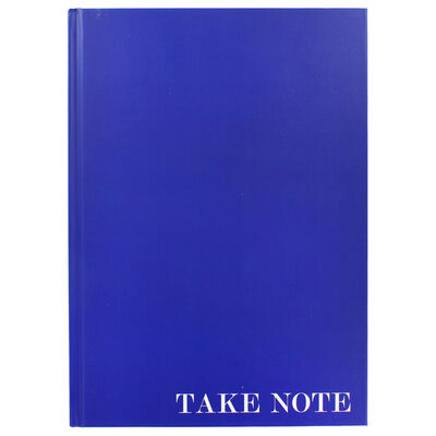 A4 Case Bound Plain Blue Lined Notebook image number 1