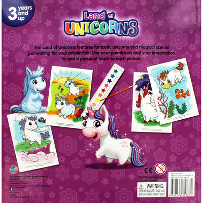 Land of Unicorns Poster Paint Book image number 4