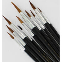 Crawford and Black 10 Artist Watercolour Brushes