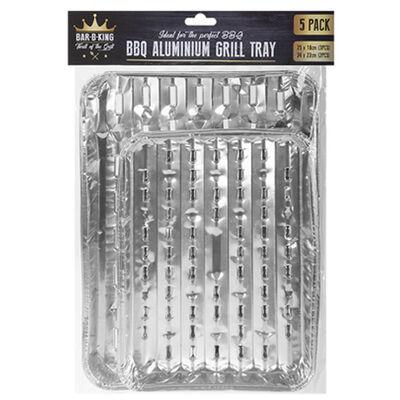 Aluminium BBQ Barbecue Foil Trays image number 1