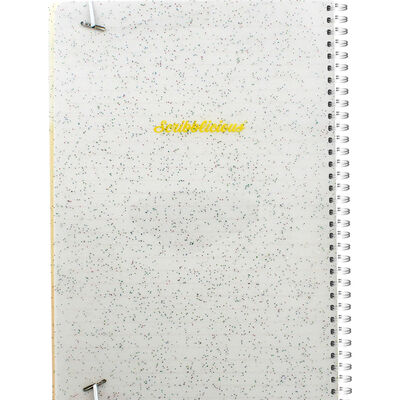 B5 Yellow Glitter Own Sunshine Lined Wiro Notebook image number 3