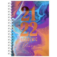 A5 Marble 2021-2022 Day a Page Diary