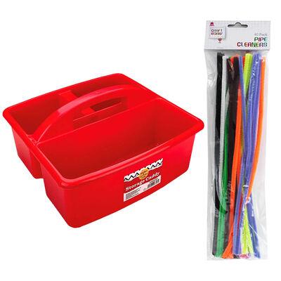 Kids Art Essentials & Red Caddy Bundle image number 5