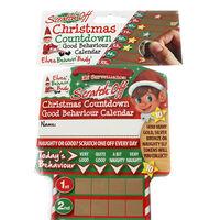 Scratch Off Christmas Countdown Good Behaviour Calendar