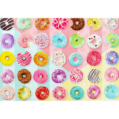 Doughnuts 500 Piece Jigsaw Puzzle image number 4