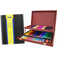 Complete Colouring and Sketch Studio with Field Sketch Book Bundle