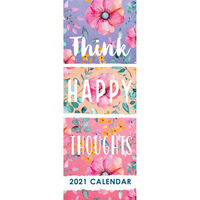 2021 Slim Calendar: Think Happy Thoughts