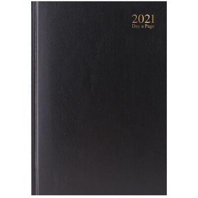 A4 Black 2021 Day a Page Diary image number 1