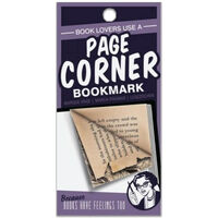Page Corners Bookmarks: Book Lovers Purple