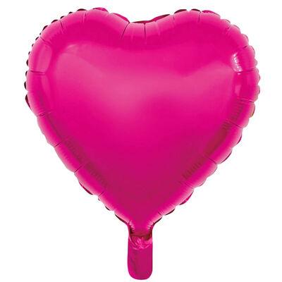 18 Inch Pink Helium Heart Balloon Bundle image number 3