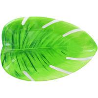 Tropical Leaf Plastic Platter Plate