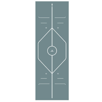 Grey Yoga Exercise Mat - 7mm Thickness image number 4