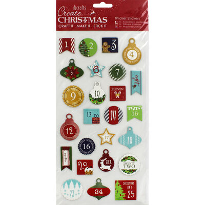 Advent Numbers Thick Christmas Stickers image number 1