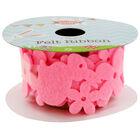 Pink 1m Felt Easter Bunny Ribbon image number 2