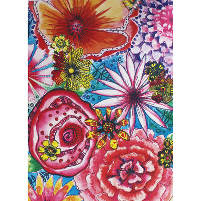 A4 Floral Collage Paper Booklet image number 4