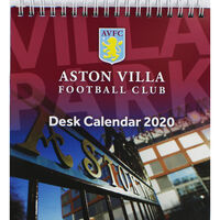 Aston Villa Football Club Desk Calendar 2020