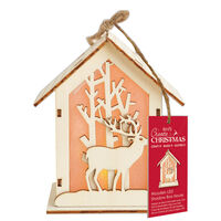 Wooden Stag LED Shadow Box House