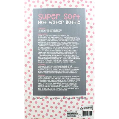 Pink Metallic Spot Super Soft Water Bottle image number 3